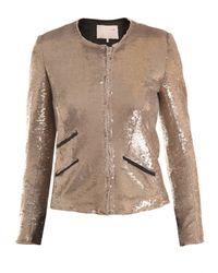 IRO | Metallic Yulli Sequinned Jacket | Lyst