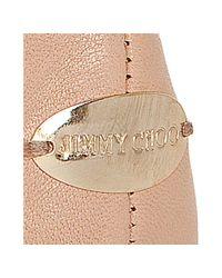 Jimmy Choo - Pink Whirl Leather Ballerina Flats - Lyst