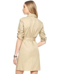 Michael Kors | Natural Michael Casual Belted Safari Dress | Lyst