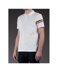 Moncler White Polo Shirt for men