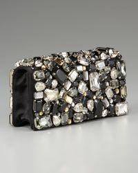 Prada - Natural Raso Stone Clutch - Lyst