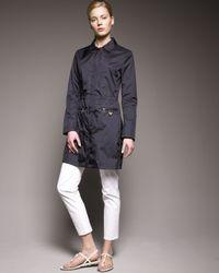 Prada | White Cropped Stretch-gabardine Pants | Lyst