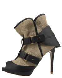 Stella McCartney | Black 'odette' Eco Patent Leather Buckle Boots | Lyst