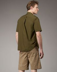 Tim Hamilton - Green Slim Cotton Shorts, Khaki for Men - Lyst