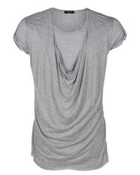 Unconditional | Gray Drape Front T-shirt for Men | Lyst
