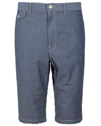 Y-3 | Gray Chambray Shorts for Men | Lyst