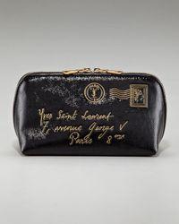 Saint Laurent - Black Y Mail Cosmetic Case - Lyst
