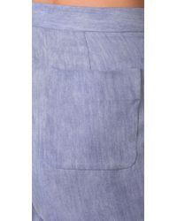 Acne Studios Purple Sensational Denim Shorts