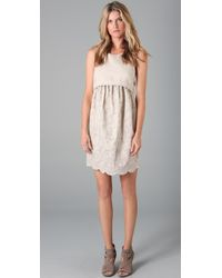 Adam Lippes | Natural Linen Eyelet Dress | Lyst
