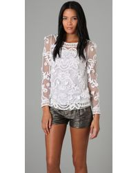 Alice By Temperley | White Fabienne Lace Top | Lyst