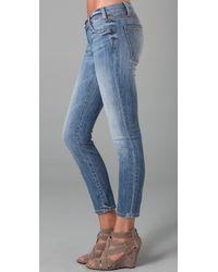 Current/Elliott - Blue The Stiletto Jeans - Lyst