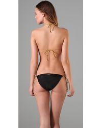 Insight Black Leni Fawcett Triangle Bikini