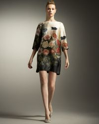 Stella McCartney | Multicolor Silk Dress with Floral Print | Lyst