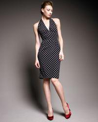 Dolce & Gabbana - Black Polka-dot Halter Dress - Lyst
