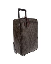 Fendi | Brown Monogrammed Suitcase | Lyst