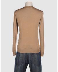 Prada | Light Brown Wool V-neck Sweater for Men | Lyst