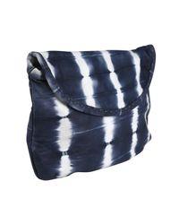 Sammy Ethiopia | Blue Navy Hiwat Tie Dye Strip Leather Clutch Bag | Lyst