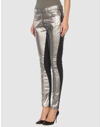 Acne Studios | Metallic Skin Panel Pants | Lyst