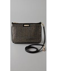 Rebecca Minkoff | Black Gold Stud Rocker Bag | Lyst