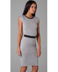 Robert Rodriguez | Gray Jersey & Chiffon Dress | Lyst
