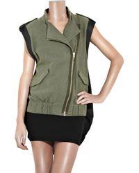 Alexander Wang | Green Shell-back Cotton-canvas Vest | Lyst
