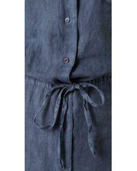 James Perse - Blue Linen Shirtdress - Lyst