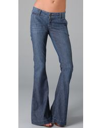 William Rast | Blue Jade Trouser Jeans | Lyst