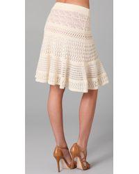 Catherine Malandrino | White Mixed Pointelle Skirt | Lyst