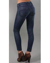 Goldsign - Blue Scene Skinny Crop Jeans - Lyst