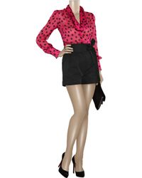 Alice By Temperley | Black Alivia Cotton-blend High-waisted Shorts | Lyst