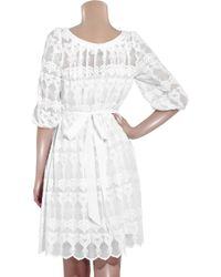 Alice By Temperley | White Flora Cotton Lace Dress | Lyst