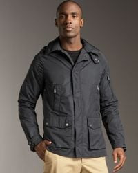 Ralph Lauren | Black Hooded Utility Coat for Men | Lyst