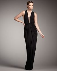 Robert Rodriguez | Black Rosie V-neck Gown | Lyst