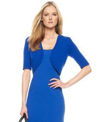 Michael Kors | Blue Cashmere Knit Shrug, Cobalt | Lyst