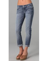 7 For All Mankind | Blue Josefina Skinny Boyfriend Jeans | Lyst