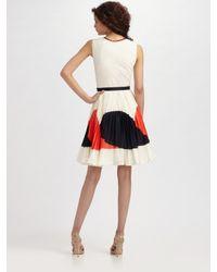 MILLY - White Justene Dress - Lyst