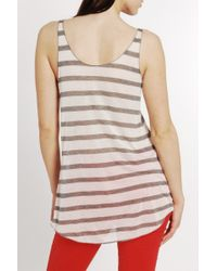 Enza Costa | Natural Stripe Loose Tank in Fisherman | Lyst