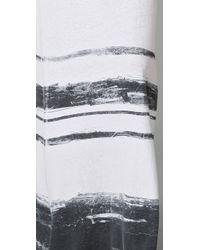 James Perse - White Summer Stripe Long Dress - Lyst
