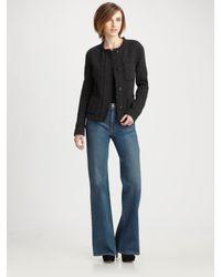 VINCE   Black Bouclé Jacket   Lyst
