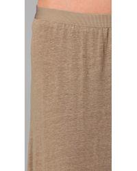 Vince - Green Knit Linen Bias Skirt in Wet Sand - Lyst