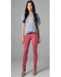 Ksubi - Blue Devoré Burnout Cotton-blend T-shirt - Lyst