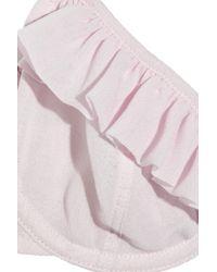 Burberry Pink Silk-georgette Underwired Bra