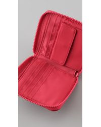 Marc By Marc Jacobs | Red Pretty Nylon Small Zip Around Wallet | Lyst