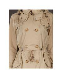 Moncler Natural Tariec Drawstring Trench Coat