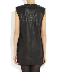 3.1 Phillip Lim Black Lace and Leather Mini Dress