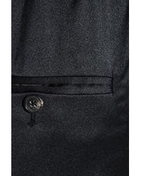 3.1 Phillip Lim Black Silk-blend Charmeuse Tuxedo Pants