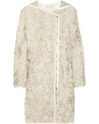 3.1 Phillip Lim | Natural Silk Flower and Stud-embellished Coat | Lyst