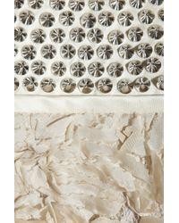 3.1 Phillip Lim Natural Silk Flower and Stud-embellished Coat