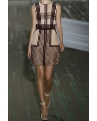 3.1 Phillip Lim - Brown Silk-blend Organza and Lace Dress - Lyst