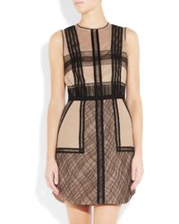 3.1 Phillip Lim Brown Silk-blend Organza and Lace Dress